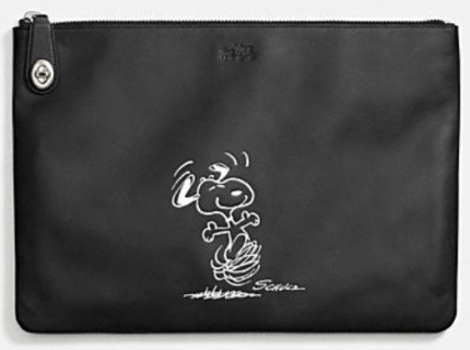 Coach X Peanuts extra large folio-black