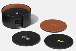 Coach X Peanuts leather coaster set