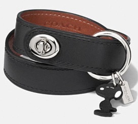 Coach X Peanuts leather turnlock bracelet