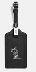 Coach X Peanuts luggage tag-snoopy