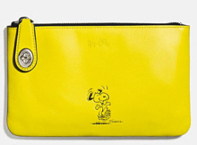Coach X Peanuts small folio-yellow