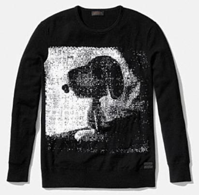 Coach X Peanuts snoopy sweater